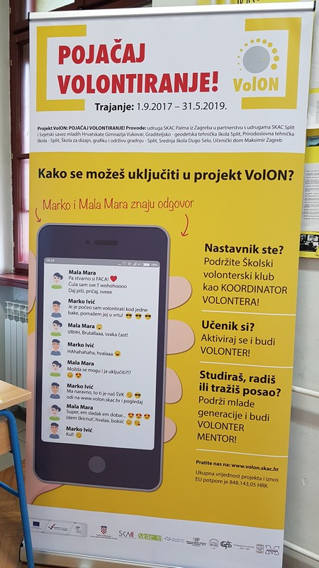 """LokalnaHrvatska.hr Vukovar U Gimnaziji Vukovar predstavljen projekt VolON: """"Pojacaj volontiranje"""""""