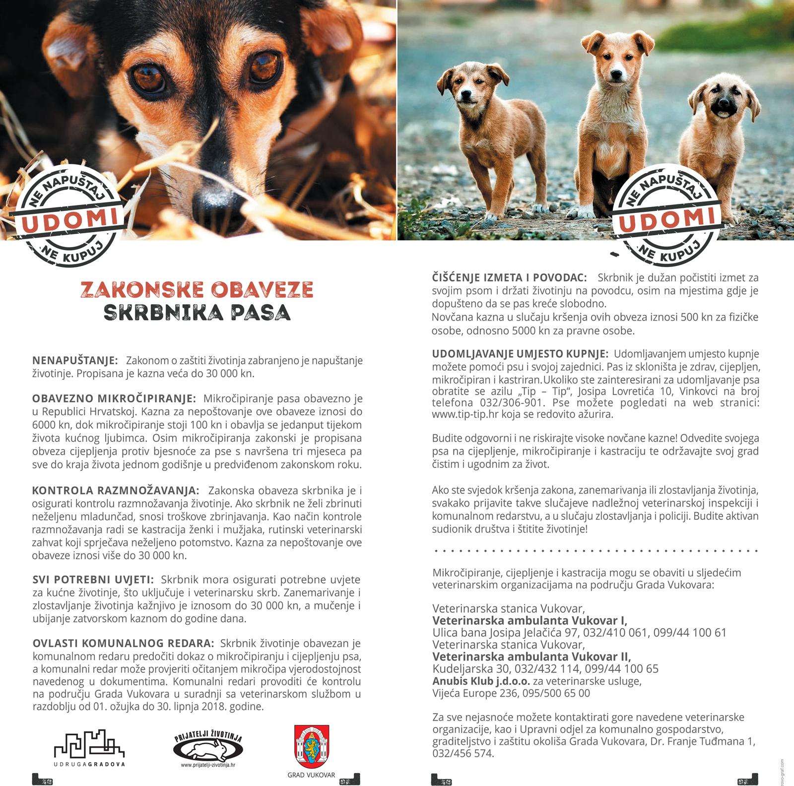 LokalnaHrvatska.hr Vukovar Zakonske obveze skrbnika pasa